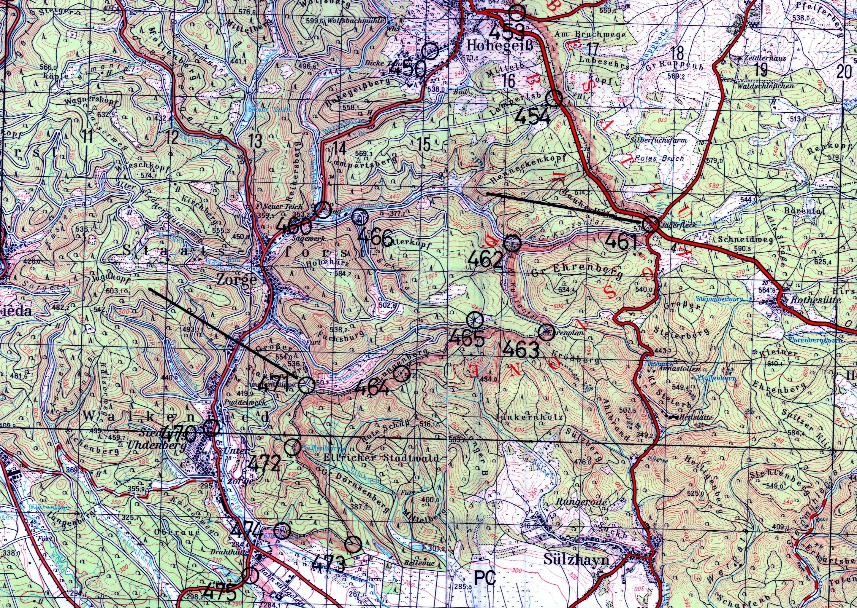 Ddr Grenze Karte Harz.Der Grenzabschnitt Der Bgs Abteilung Goslar Mittelabschnitt 02