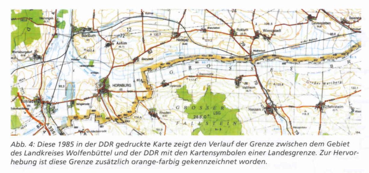 Verlauf Ddr Grenze Karte.Vermessung Der Innerdeutschen Grenze