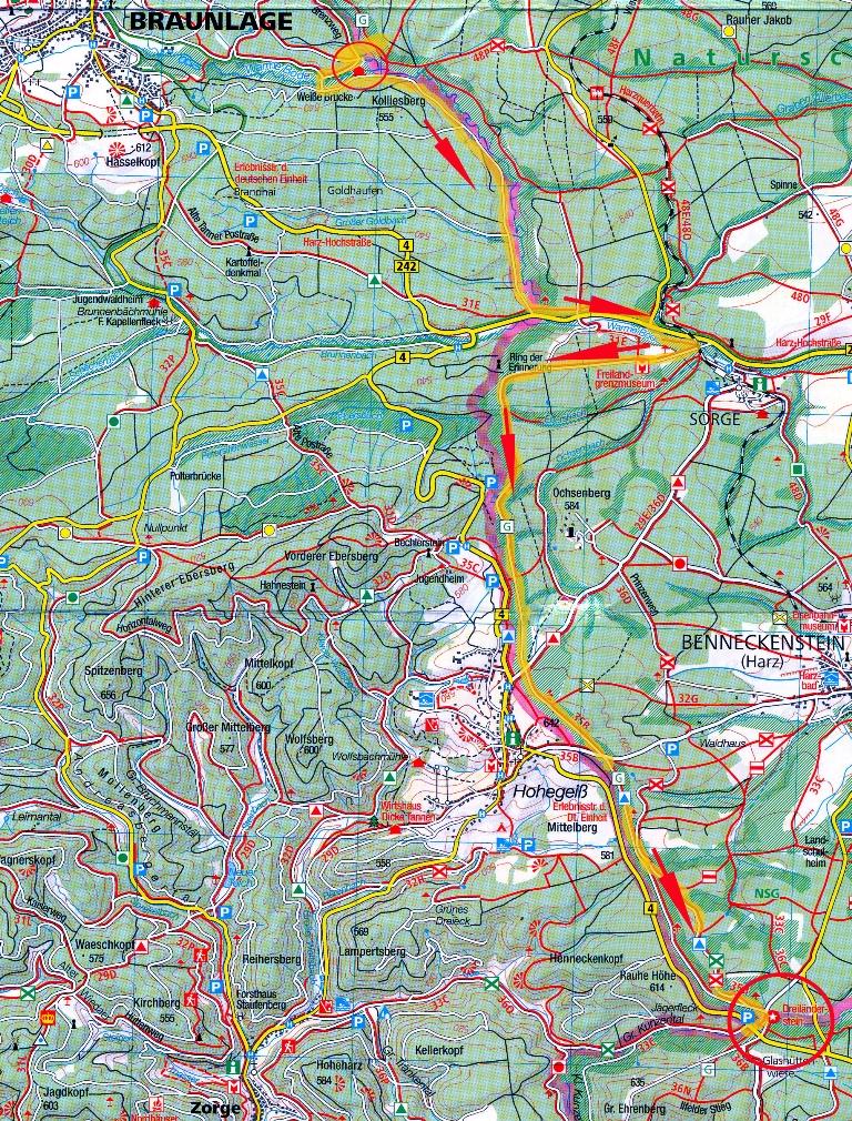 Ddr Grenze Karte Harz.Grenzwanderung Von Der Silberfuchsfarm Zum Jagerfleck
