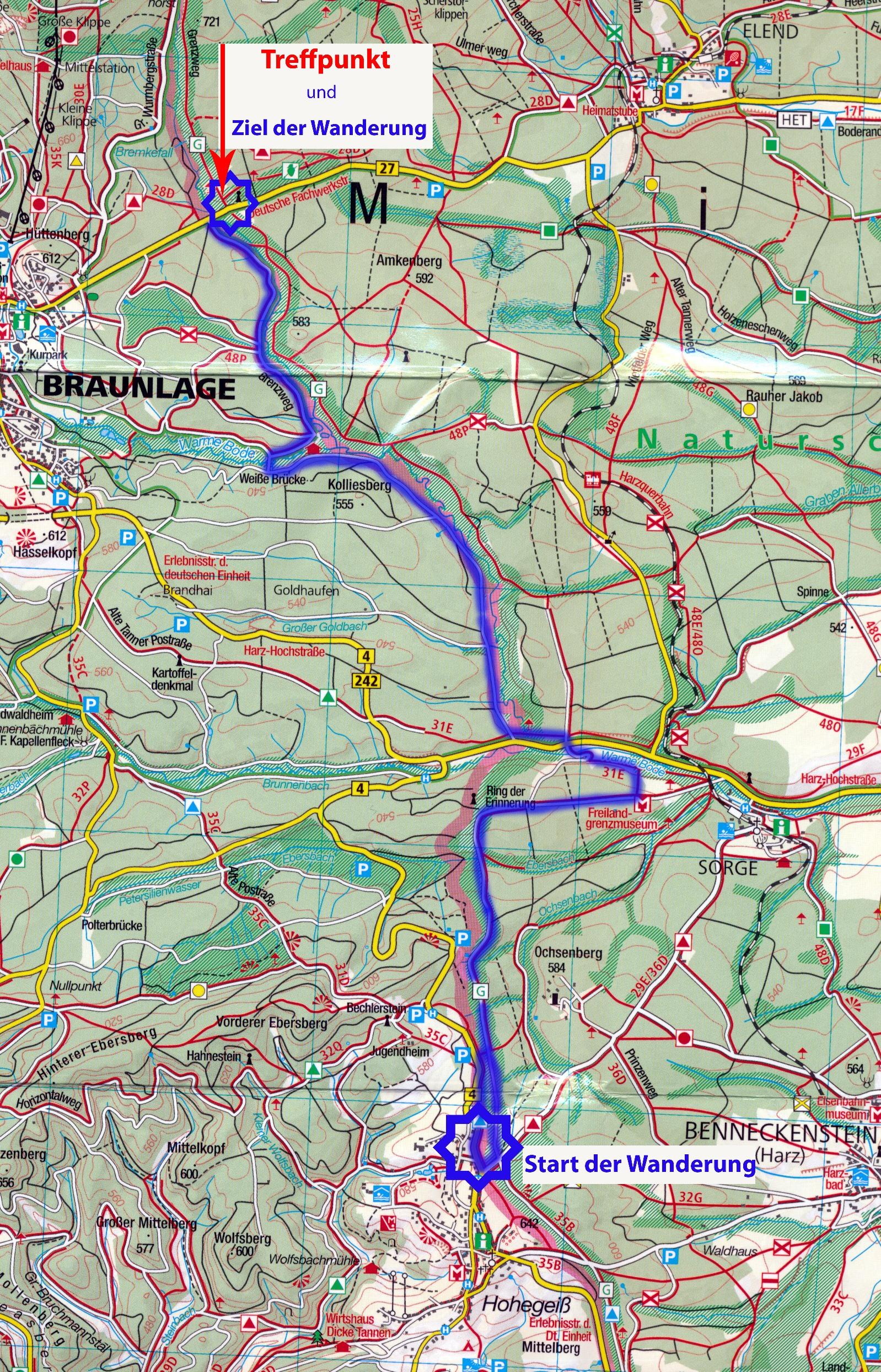 Ddr Grenze Karte Harz.Grenzwanderung Im Harz Von Hohegeiss Bis Zur Strasse Braunlage